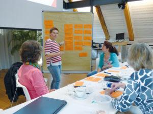 Intensiv wurde in den MPM Workshopgruppen gearbeitet. Die Ergebnisse sollen für den Gewerbeverein zukunftsweisend sein. Foto:G. Vrobel