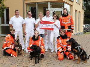 2.000 Euro für die Rettungshundestaffel